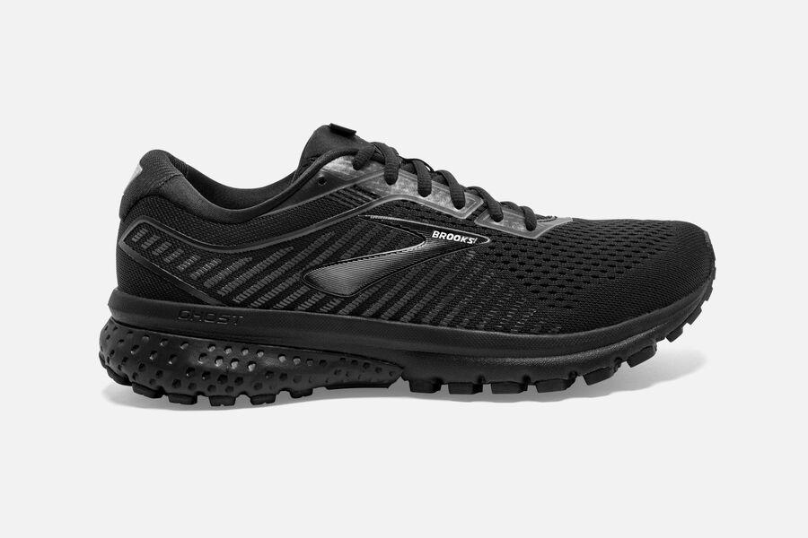 Brooks Ghost 12 - Mens Road Running Shoes - Black/Grey - NZ (361IFZVUL)